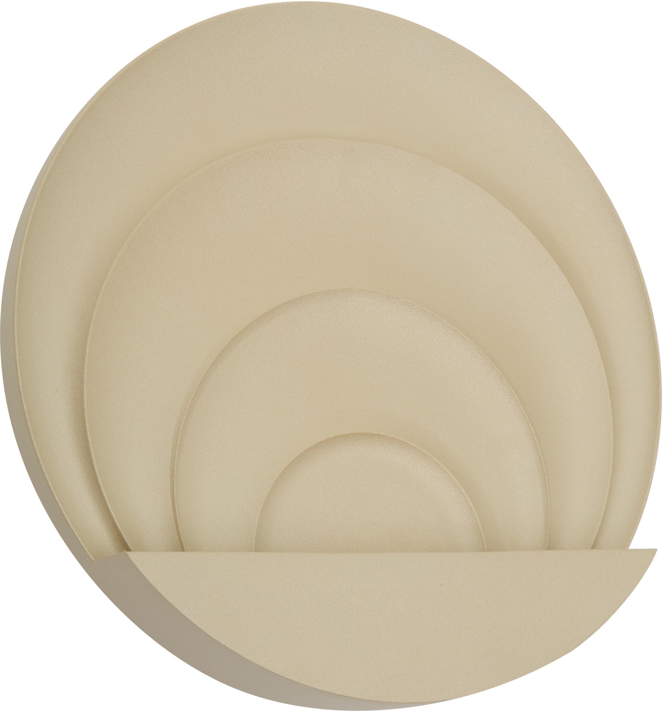 Applique a LED Sunrise, Lampada: metallo verniciato, Dorato, Ø 26 x Prof. 7 cm