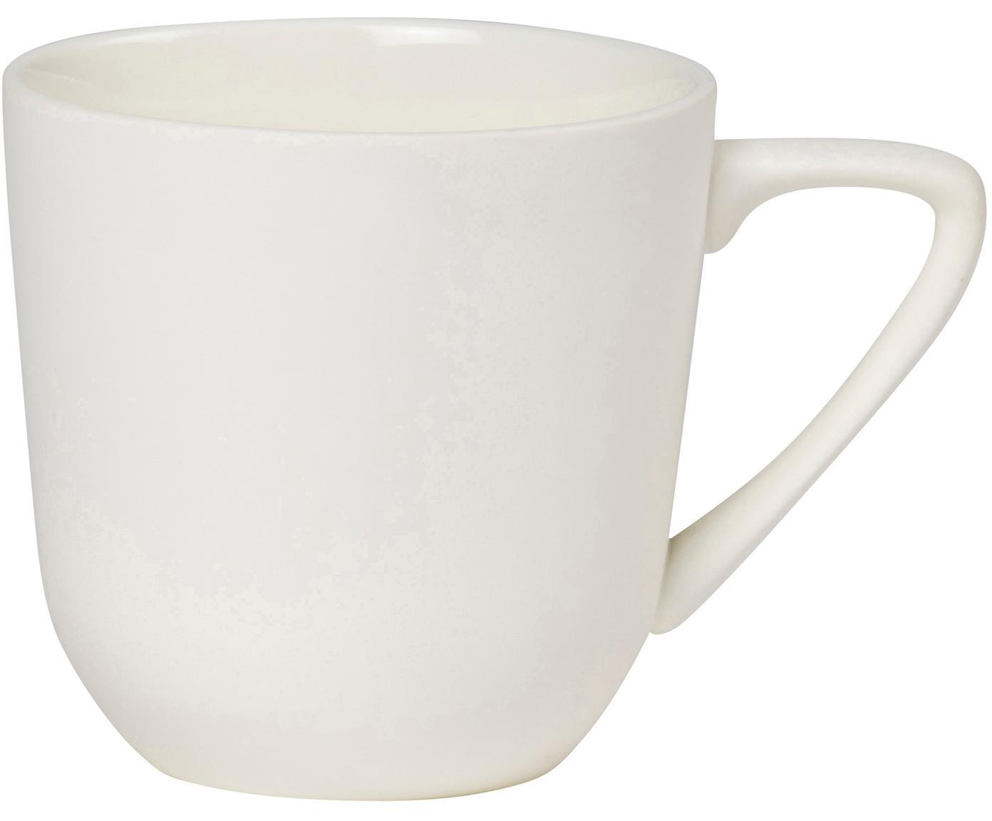 Tazza bianca opaca/lucida Nudge 4 pz, Porcellana, Crema, Ø 8 x Alt. 8 cm