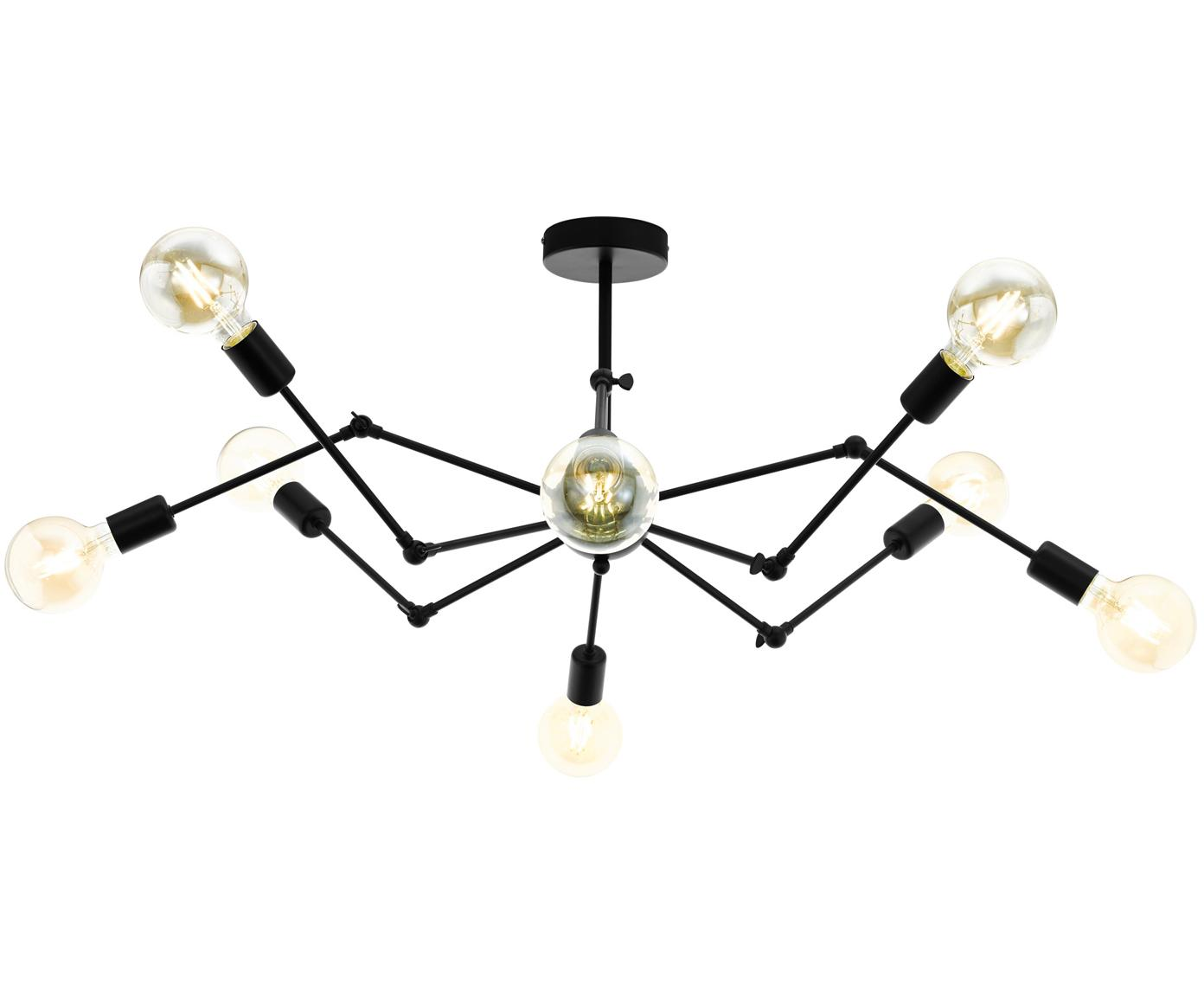 Design plafondlamp Exmoor, Zwart, Ø 96 x H 40 cm