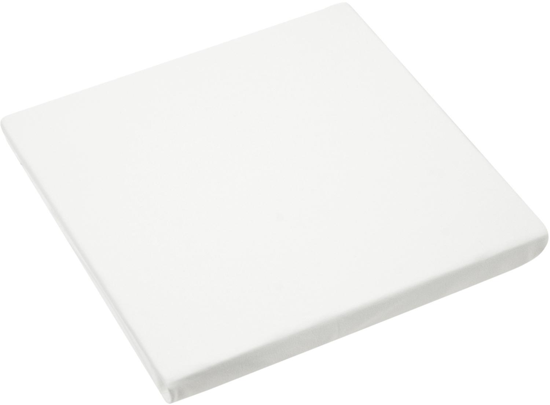 Topper-Spannbettlaken Lara, Jersey-Elasthan, 95% Baumwolle, 5% Elasthan, Cremefarben, 90 x 200 cm