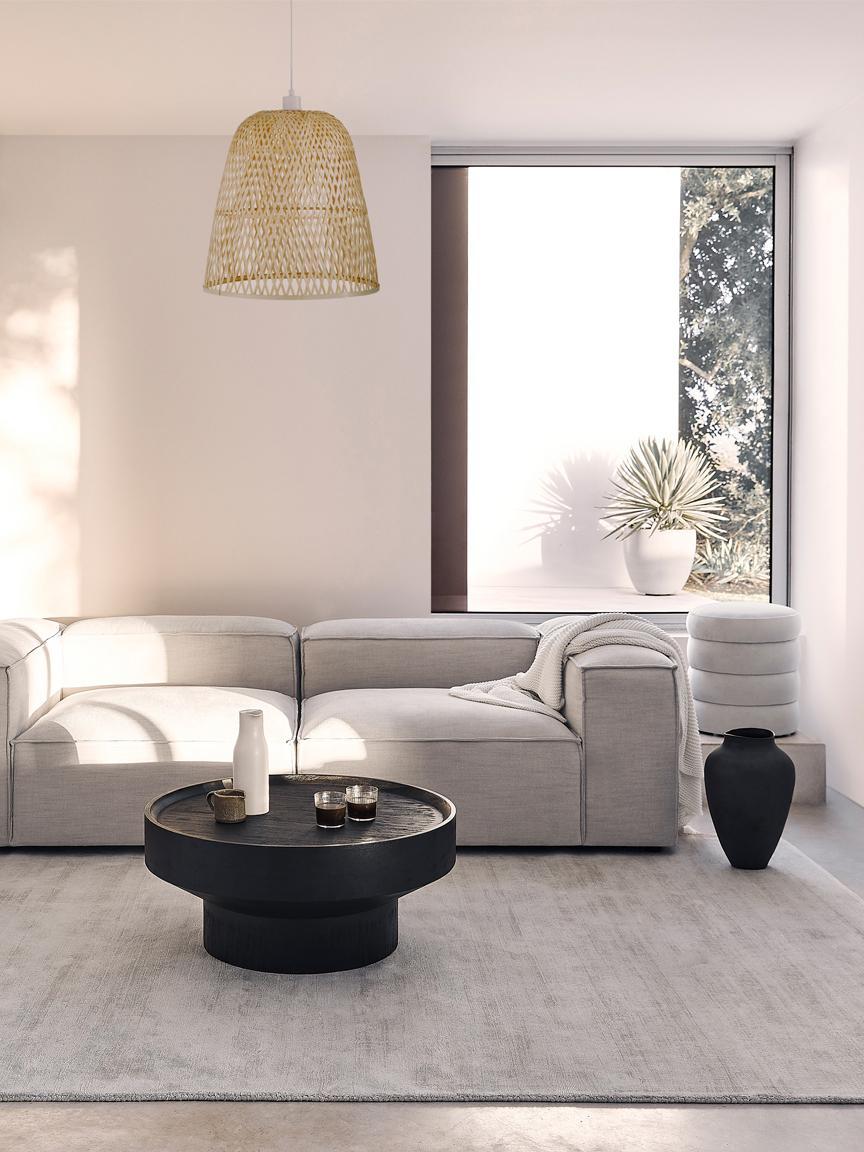 Sametový taburet Alto, Krémově bílá