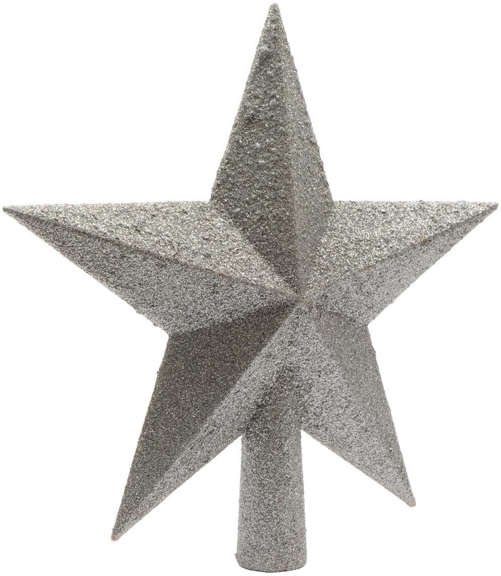 Weihnachtsbaumspitze Morning Star, Kunststoff, Silberfarben, Ø 19 cm