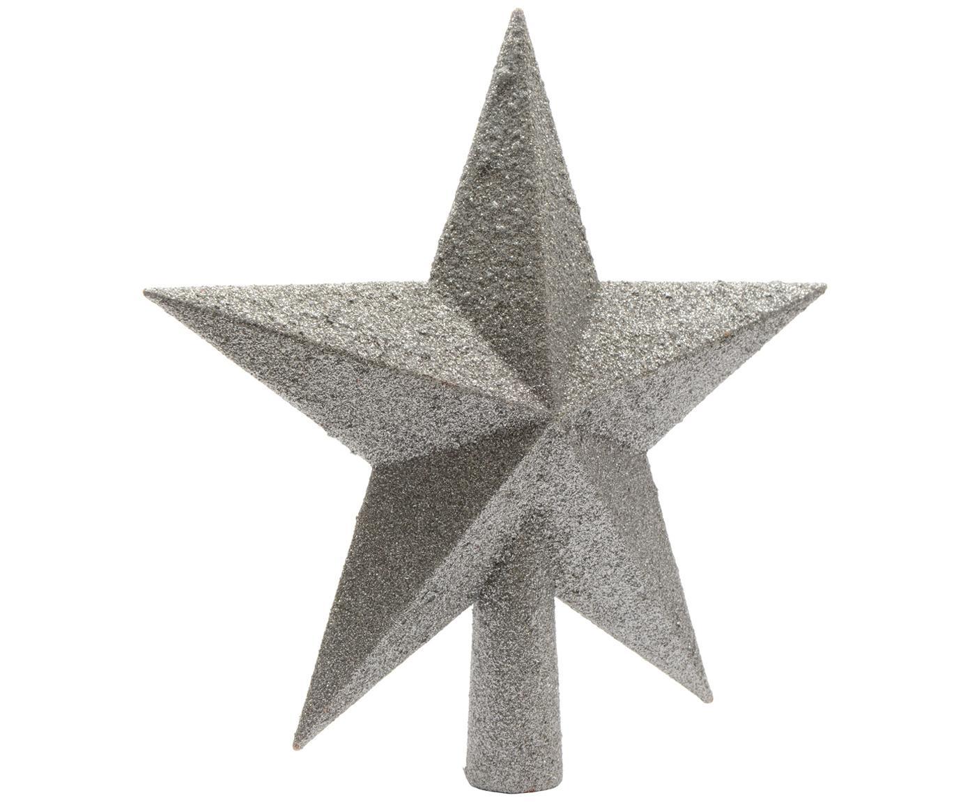 Ozdoba na czubek choinki Morning Star, Tworzywo sztuczne, Odcienie srebrnego, Ø 19 cm