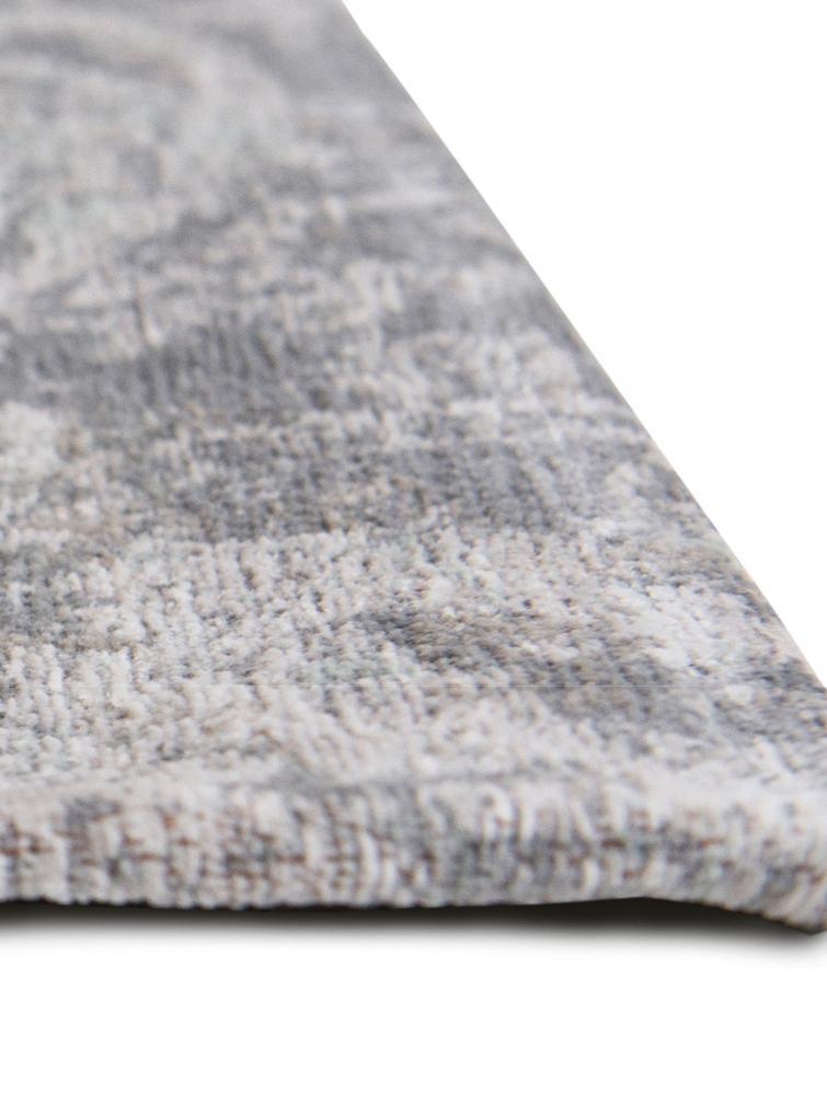 Tappeto vintage in ciniglia Babylon, Tessuto: Jacquard, Retro: Filato ciniglia, rivestit, Grigio, beige, Larg. 170 x Lung. 240 cm (taglia M)