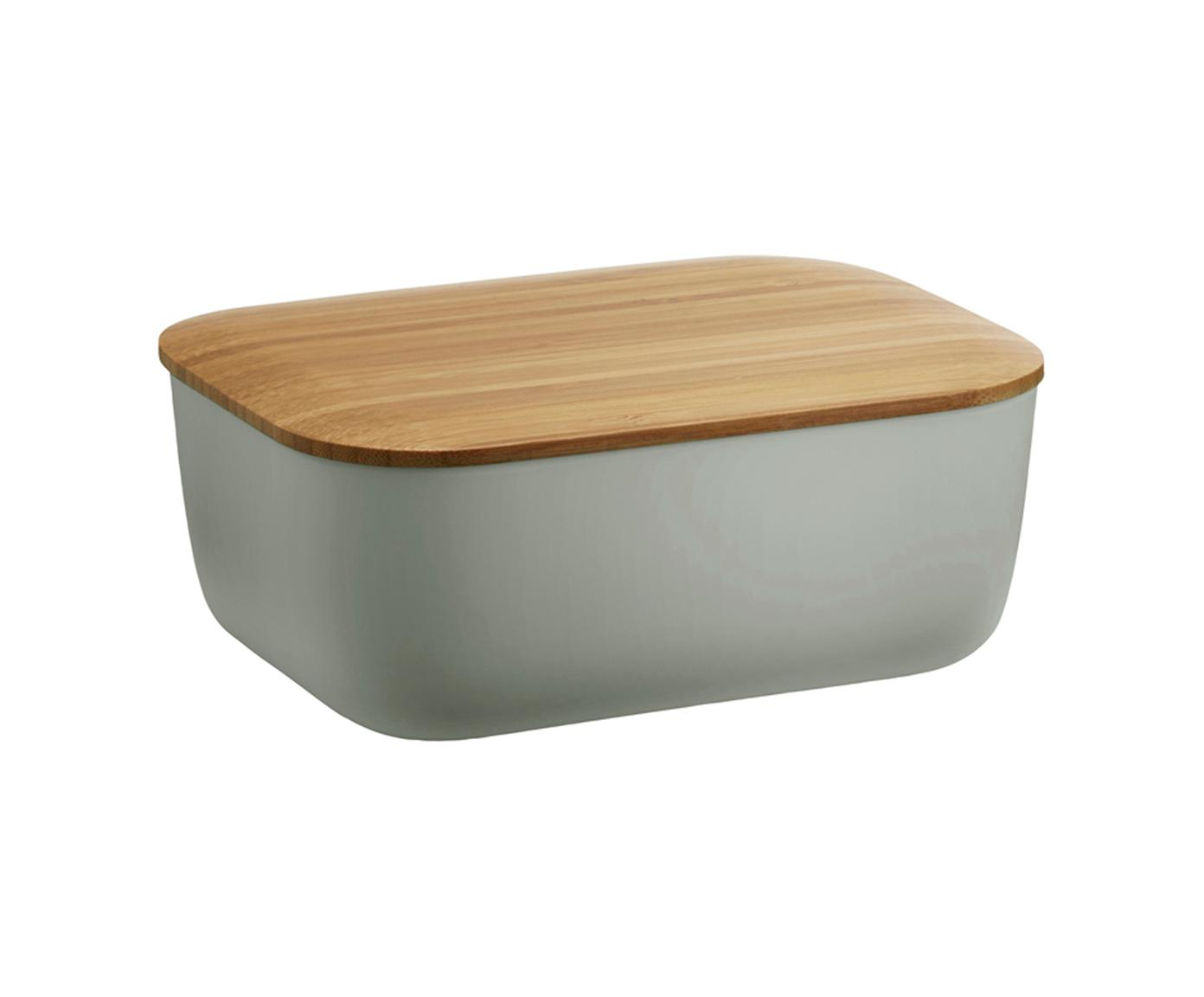 Butterdose Box-It, Dose: Melamin, Deckel: Bambus, Grau, Bambus, 15 x 7 cm