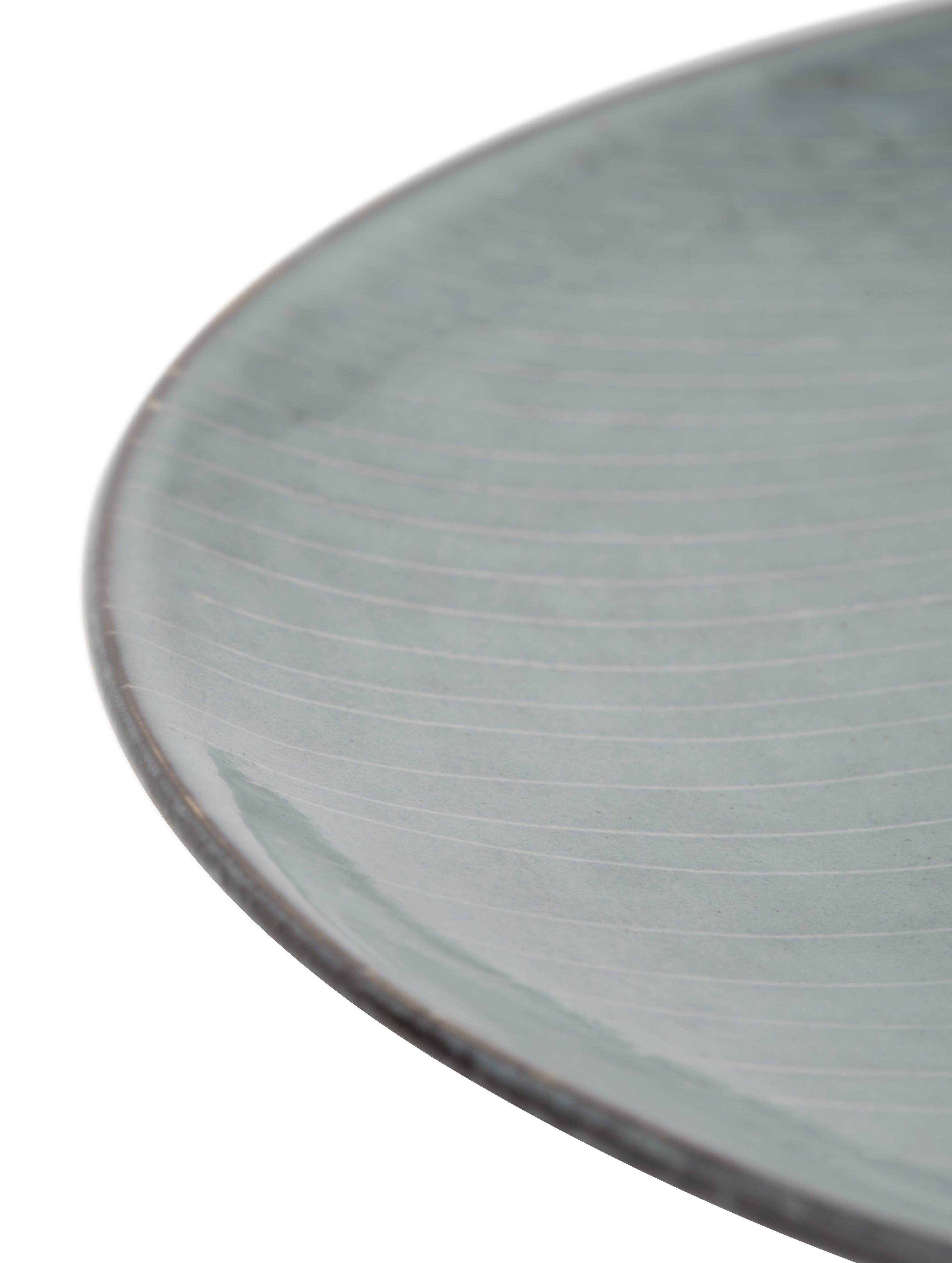 Service de table fait main Nordic Sea, 4 personnes (12élém.), Tons gris et bleus