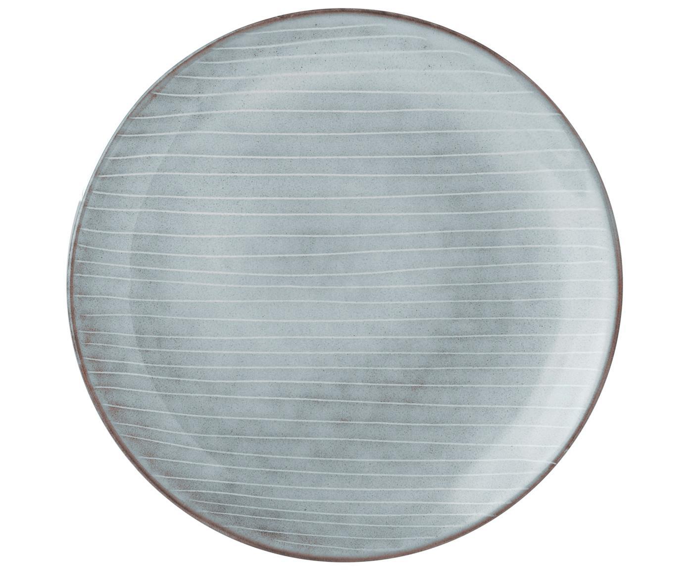 Set 12 stoviglie fatte a mano Nordic Sea, Terracotta, Tonalità grigie e blu, Diverse dimensioni