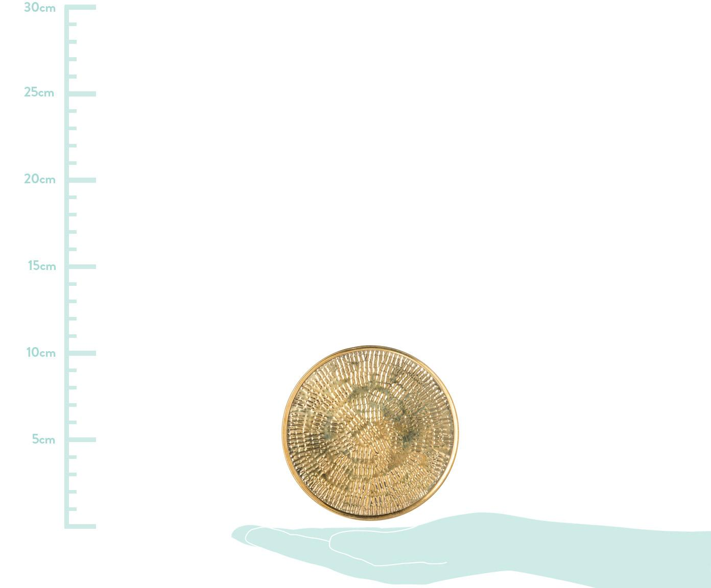 Set 4 sottobicchieri Graphic, Ottone, martellato, Ottone, Ø 10 cm