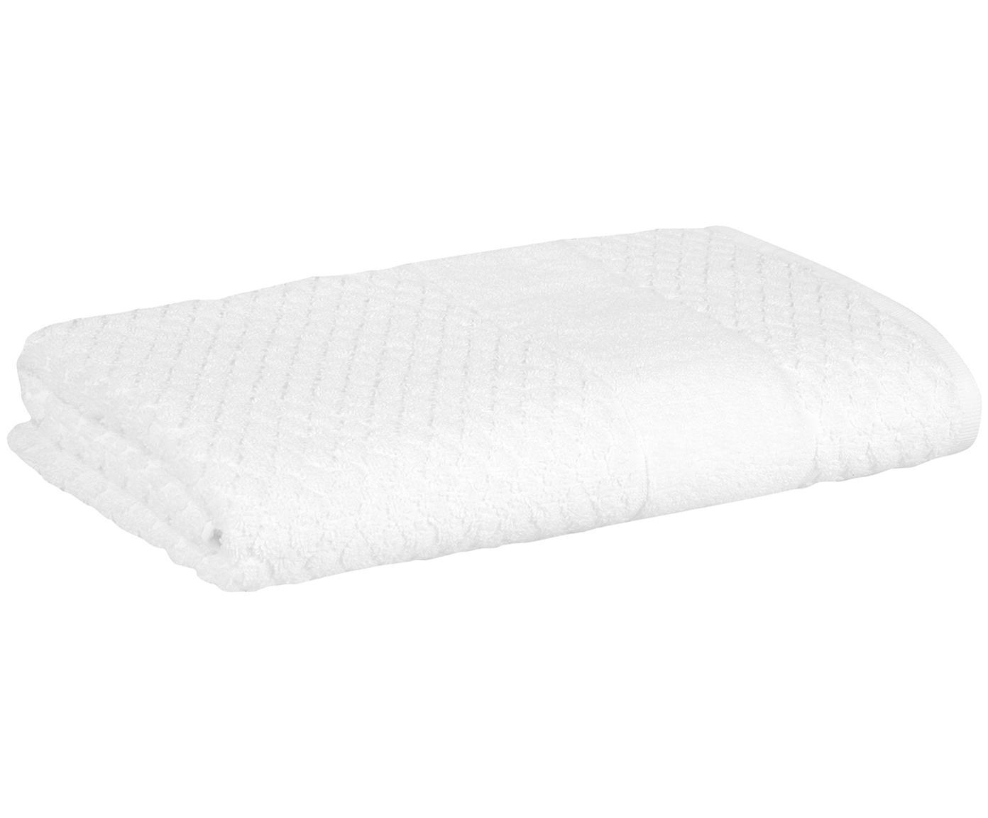Handdoek Katharina, 100% katoen, Middelzware kwaliteit 500 g/m², Wit, Handdoek