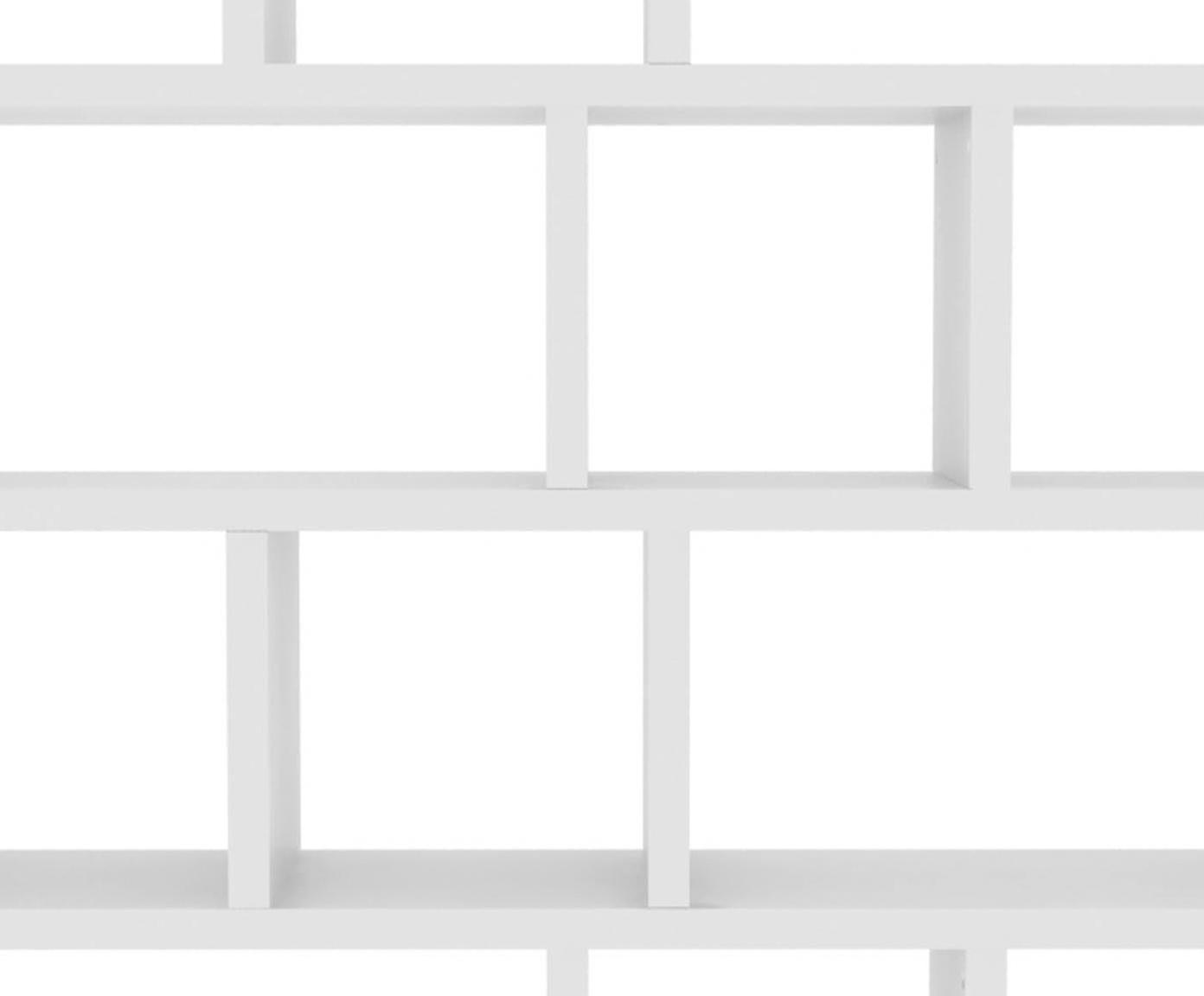Regał z drewna Portlyn, Biały, matowy, S 150 x W 198 cm