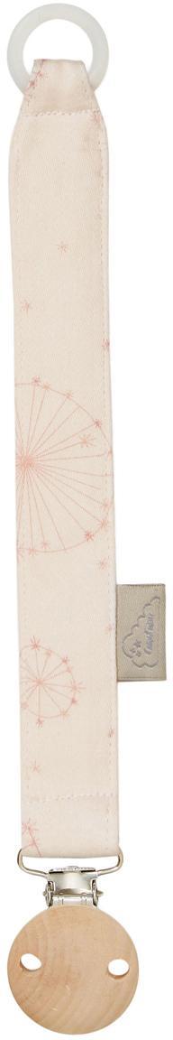 Schnullerkette Dandelion aus Bio-Baumwolle, Hellrosa, Rosa, L 20 cm
