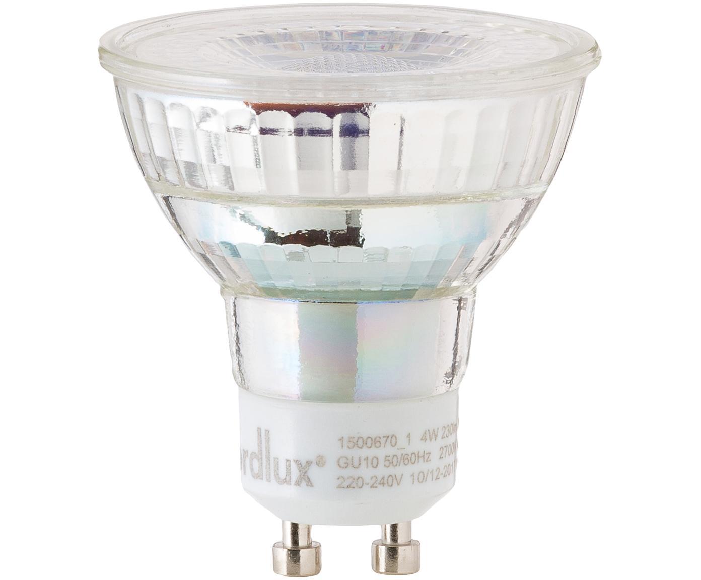 LED lamp Ferre (GU10 / 4W) 5 stuks, Peertje: glas, Fitting: aluminium, Transparant, Ø 5 x H 6 cm