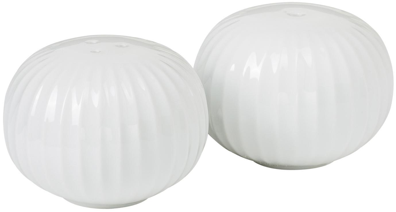 Design zout- en peperstrooier Hammershøi van keramiek, 2-delig, 100% geglazuurde keramiek, Wit, Ø 6 x H 4 cm