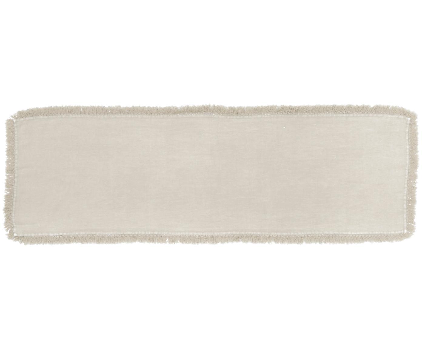 Bieżnik z lnu Newin, Len, Beżowy, S 45 x D 150 cm