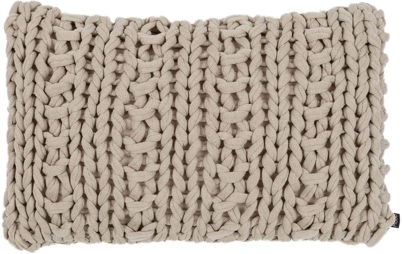 Strick-Kissen Chunky, mit Inlett, Hülle: 100% Acryl, Beige, 40 x 60 cm