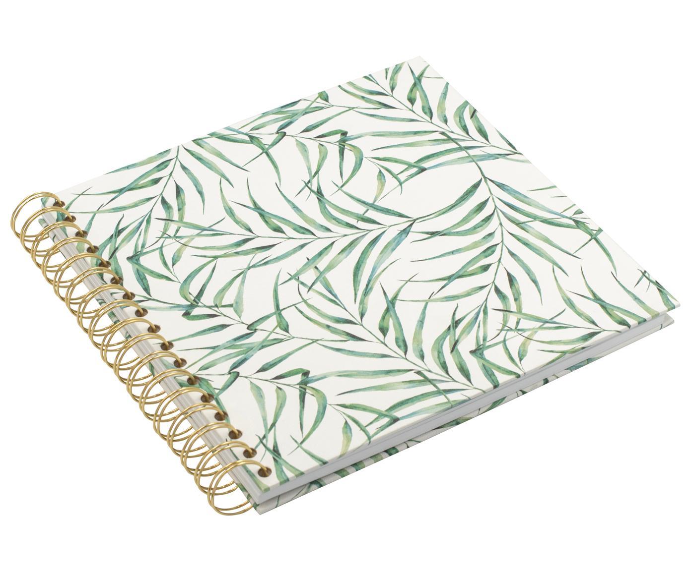 Album fotografico Breeze, Bianco, verde, Larg. 25 x Alt. 22 cm