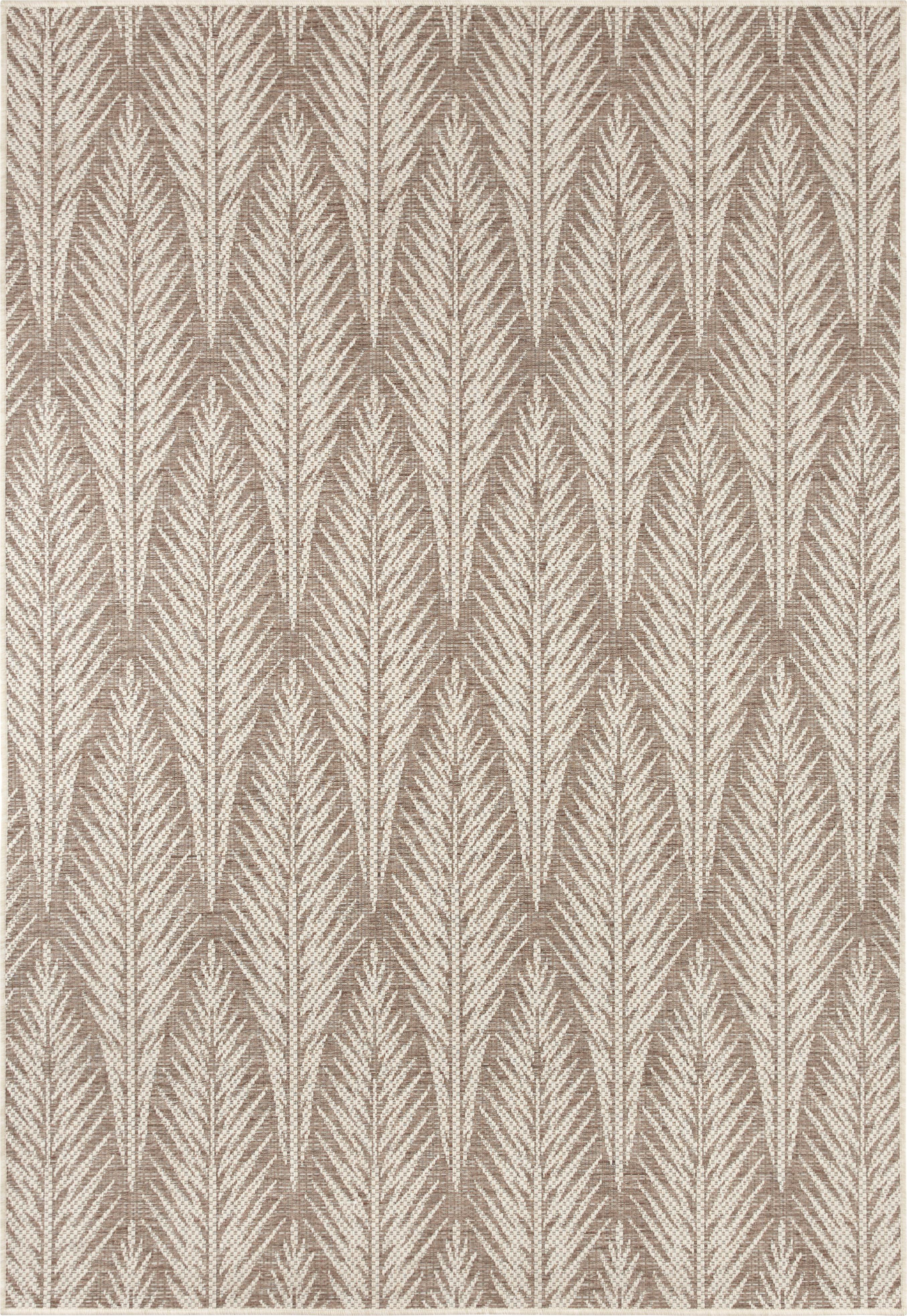 Design In- & Outdoor-Teppich Pella mit grafischem Muster, 100% Polypropylen, Taupe, Beige, B 160 x L 230 cm (Größe M)