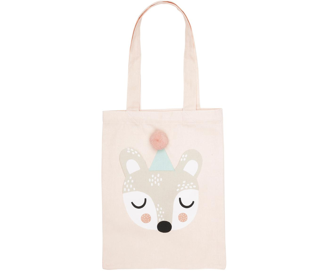 Bolso de algodón ecológico Bear Bibi, Algodón orgánico, Rosa, beige, blanco, negro, verde menta, An 25 x Al 32 cm