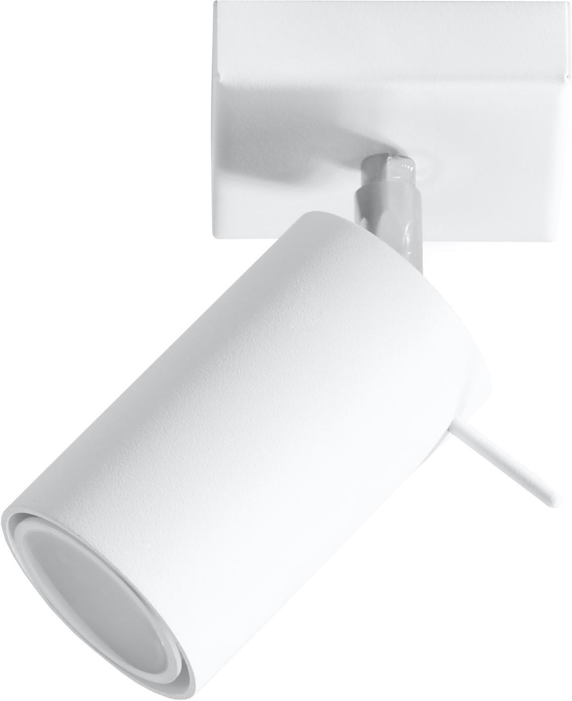 Wand-  und Deckenstrahler Etna in Weiß, Stahl, lackiert, Weiß, 10 x 15 cm