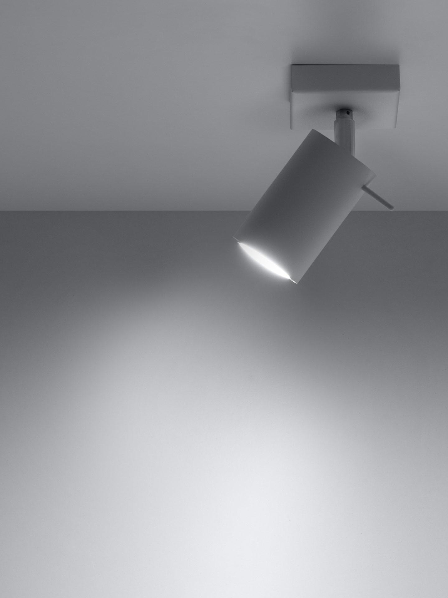 Faretto da soffitto Etna, Acciaio verniciato, Bianco, Larg. 10 x Alt. 15 cm