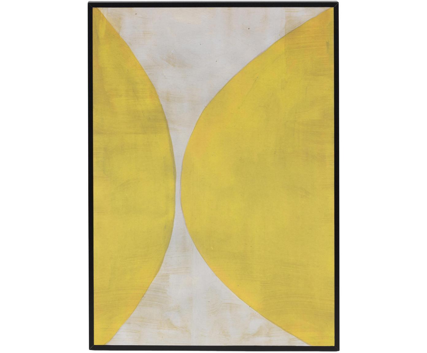Impresión digital enmarcada Reri, Amarillo, crema, An 25 x Al 35 cm