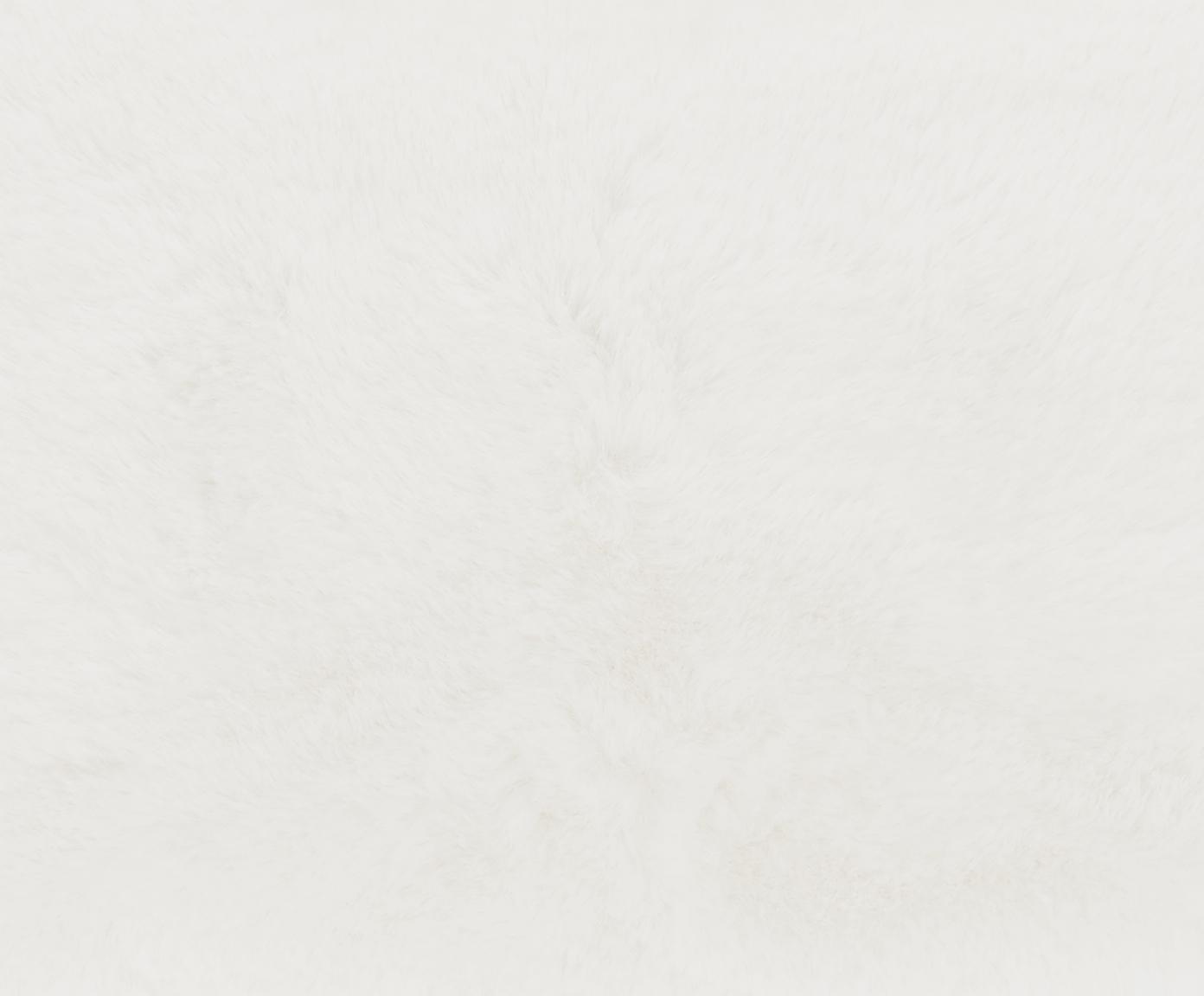 Pled ze sztucznego futra Mette, gładki, Kremowy, S 150 x D 200 cm