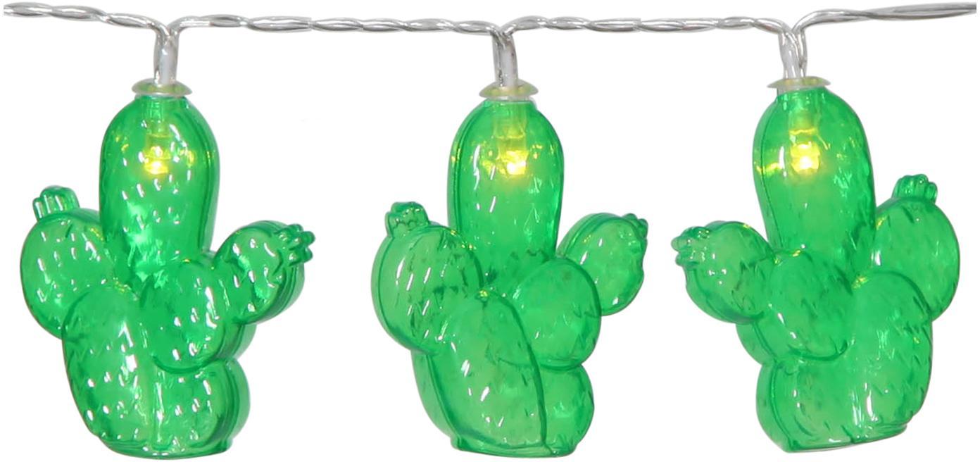 Guirnalda de luces LED Desert, 135cm, Plástico, Verde, L 135 cm