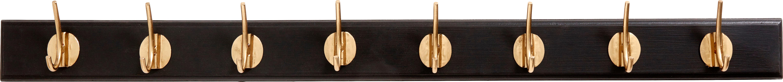 XL jassenhaak Aoife met metalen haak, Lijst: gelakt MDF, Zwart, 90 x 7 cm