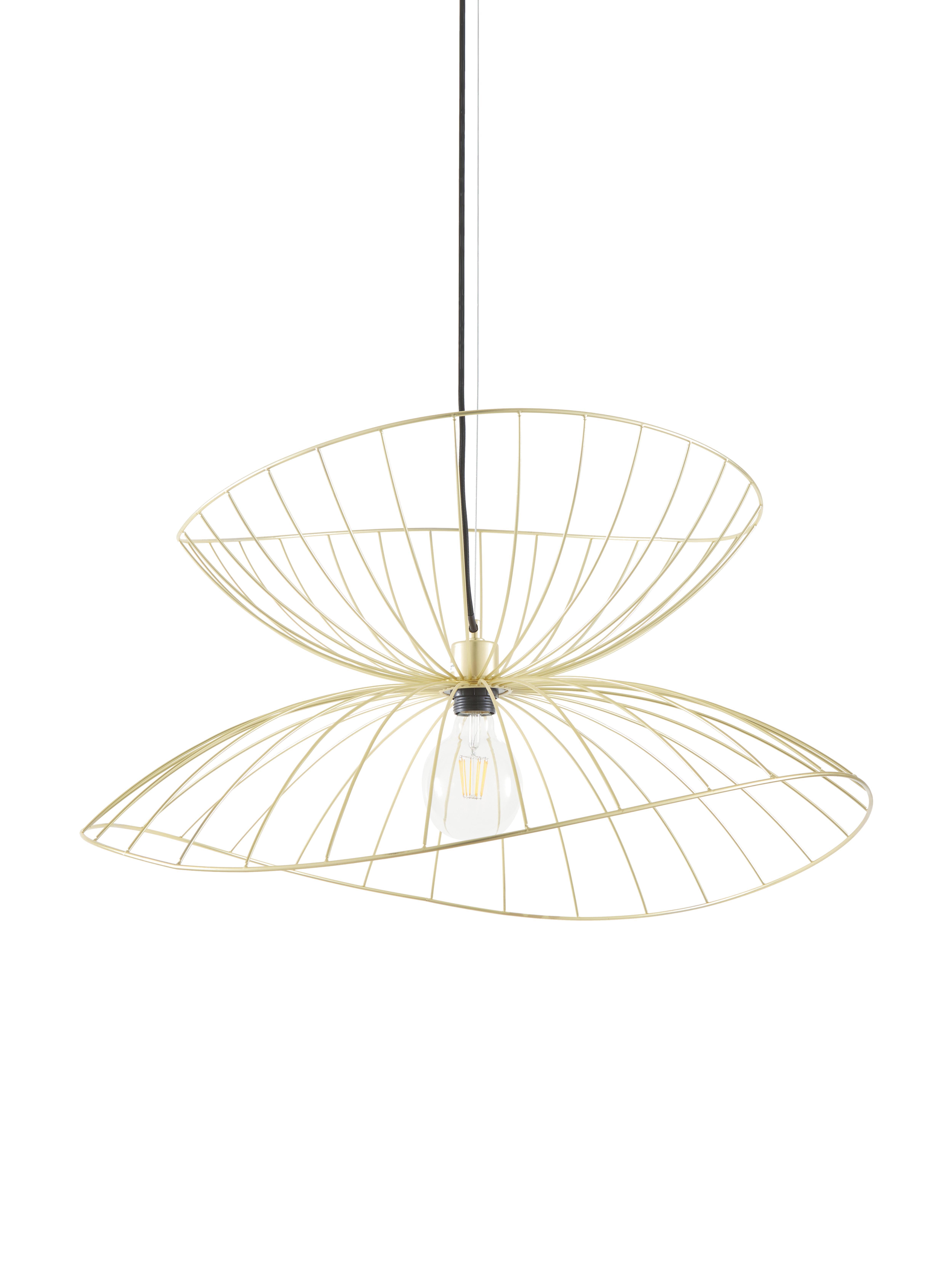 Lampa wisząca Ray, Odcienie mosiądzu, szczotkowany, Ø 70 x W 36 cm