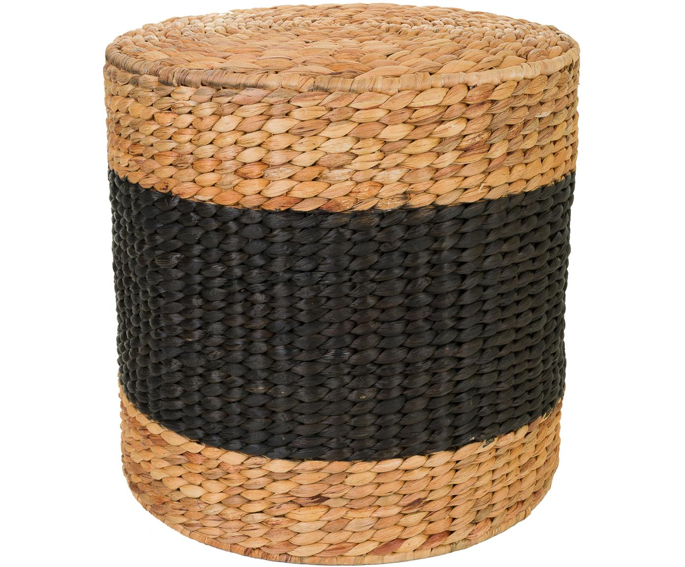 Taburete Barbari, Marrón, negro, Ø 40 x Al 41 cm