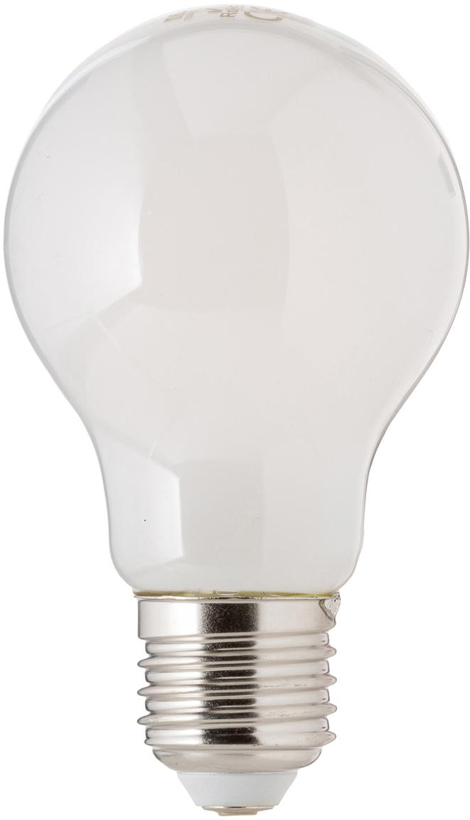 Lampadina a Hael (E27 / 4Watt), Paralume: vetro opale, Base lampadina: alluminio, Bianco, Ø 8 x Alt. 10 cm