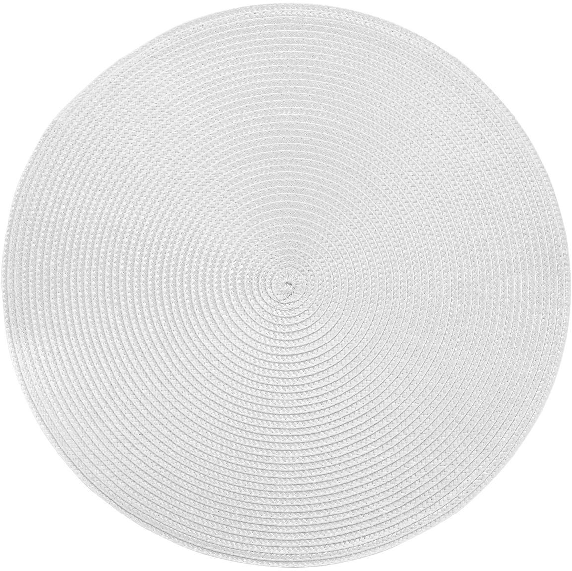Runde Kunststoff Tischsets Ambiente, 2 Stück, Kunststoff, Hellgrau, Ø 38 cm