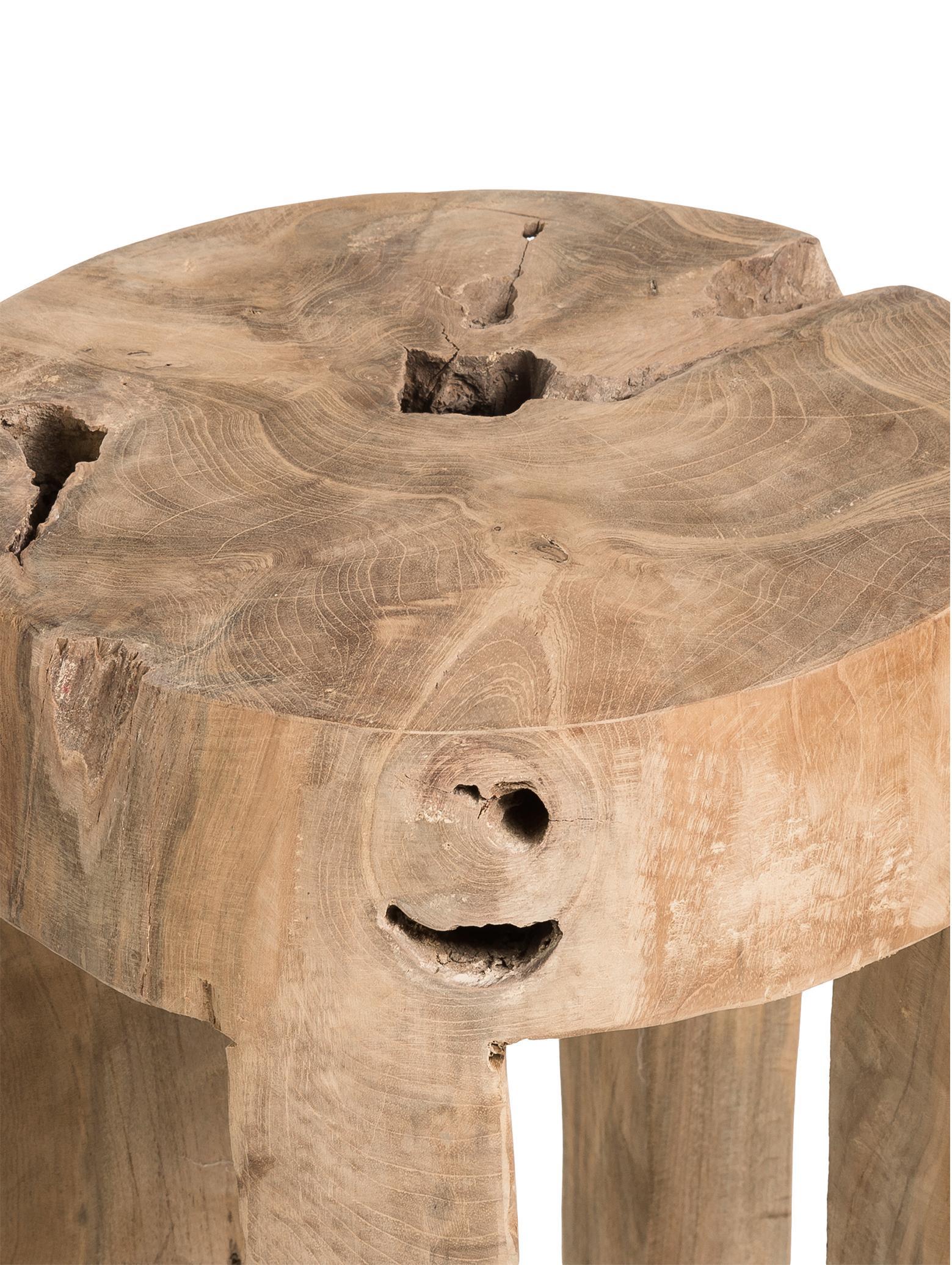 Hocker Java aus Teakholz, Teakholz, massiv, Teak, Ø 30 x H 40 cm