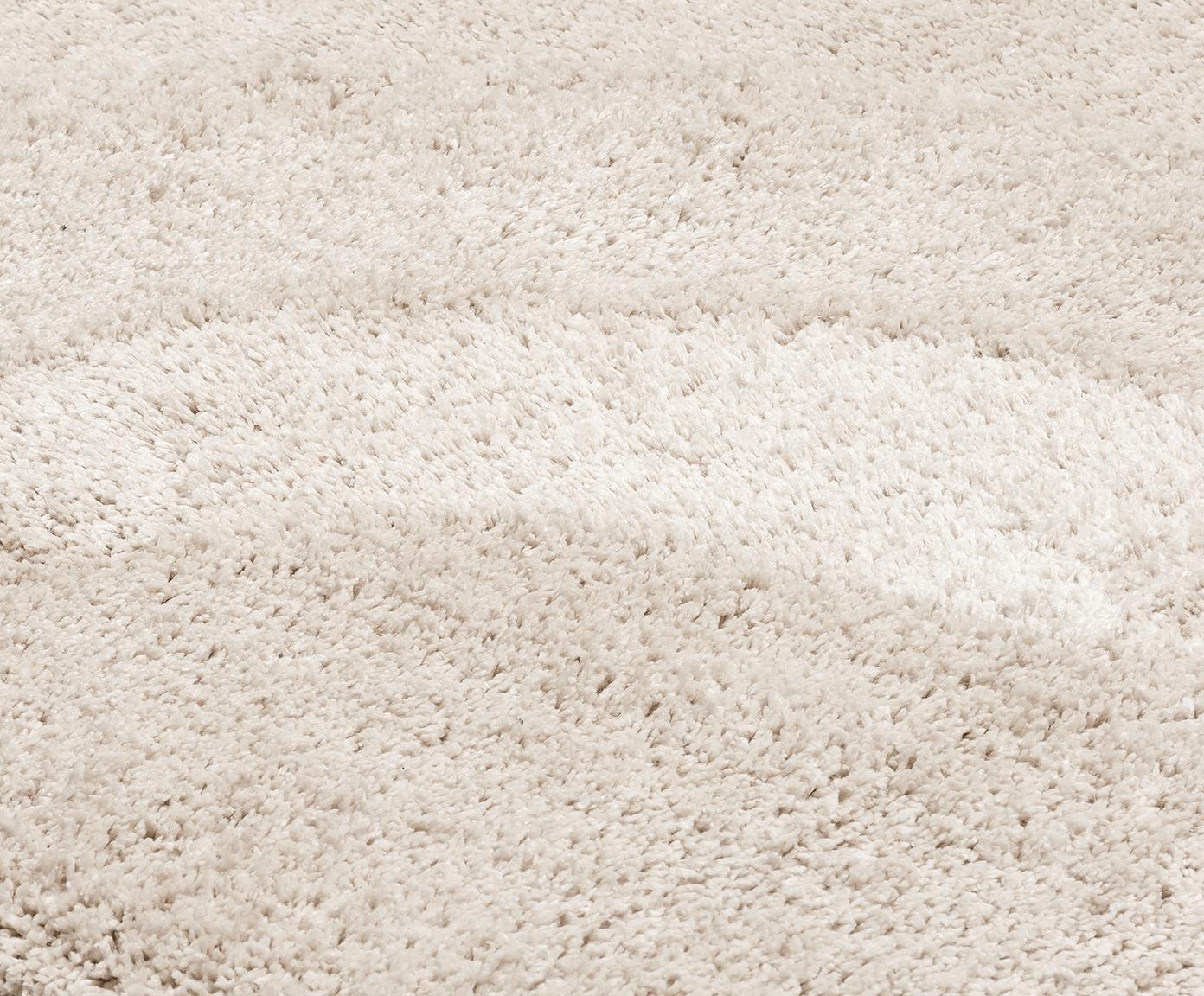 Flauschiger Hochflor-Teppich Naima, handgetuftet, Flor: 100% Polyester., Beige, Schwarz, B 300 x L 400 cm (Grösse XL)