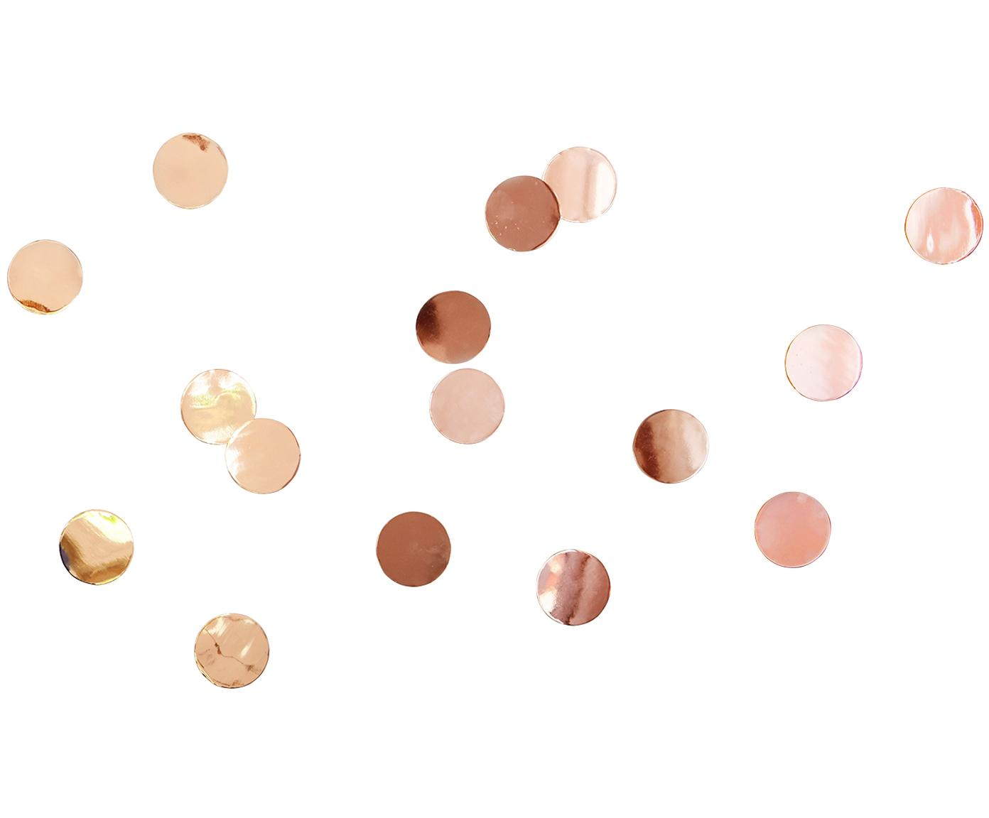 Komplet dekoracji ściennych z metalu Confetti Dots, 16 elem., Metal, Odcienie miedzi, Ø 7 cm