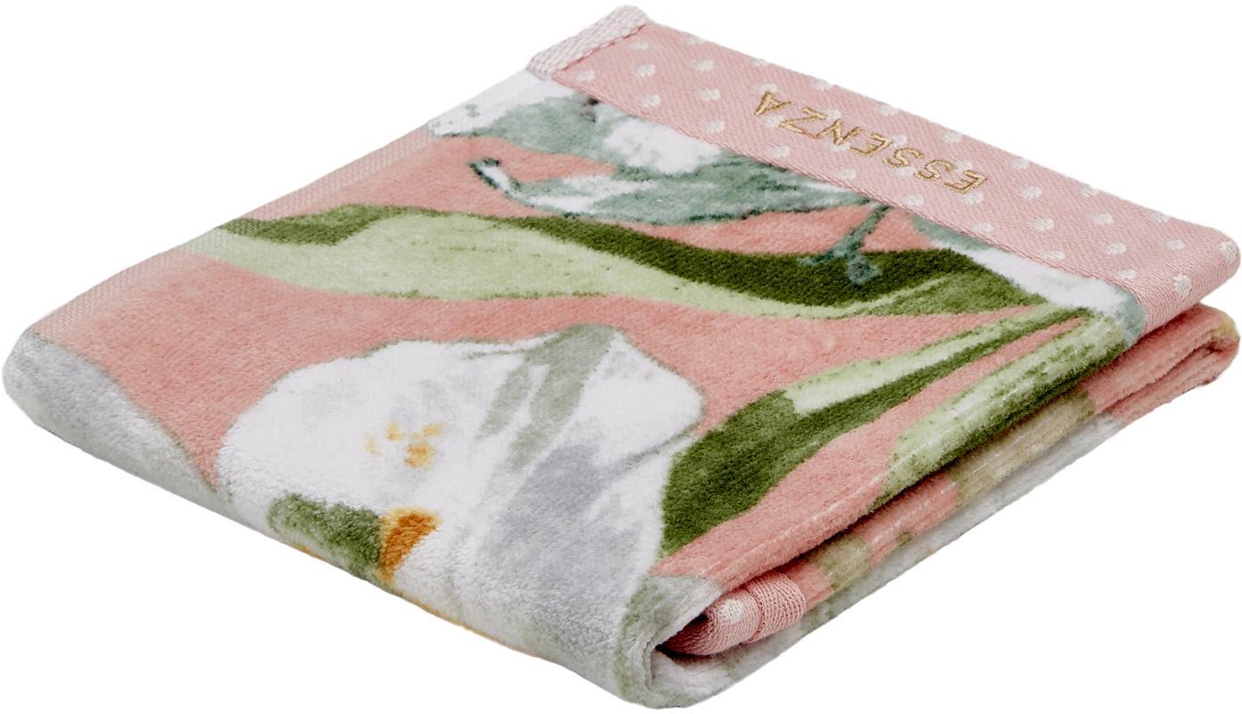 Handtuch Rosalee in verschiedenen Grössen, mit Blumen-Muster, 100% Baumwolle, Rosa, Weiss, Grün, Orange, Gästehandtuch
