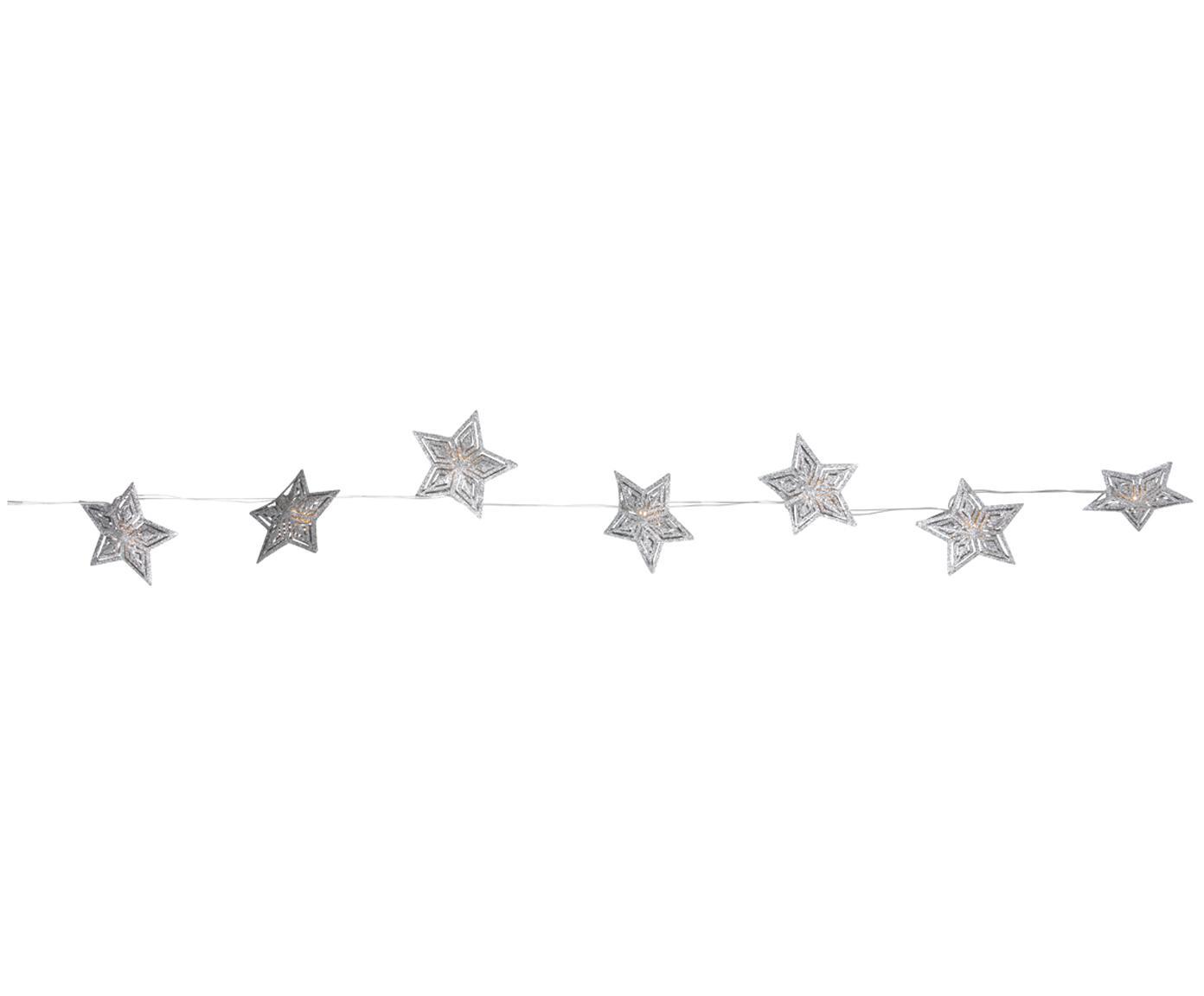 LED Lichterkette Aurora, Metall, Silberfarben, L 235 cm