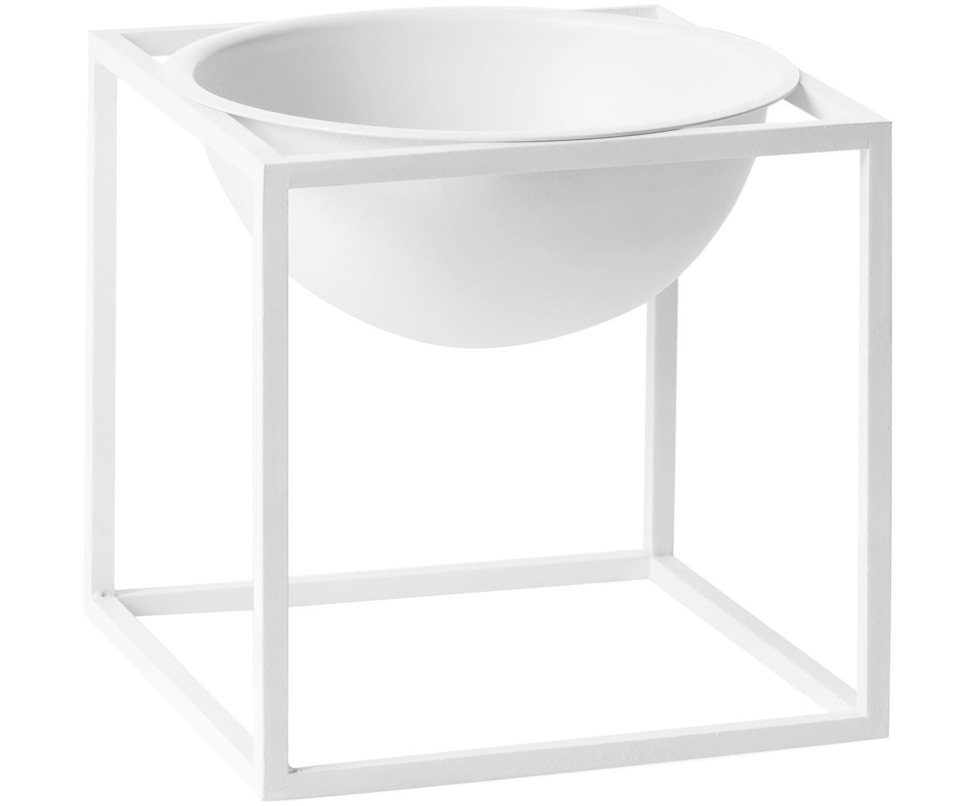 Miska Kubus, Stal lakierowana, Biały, S 14 x W 14 cm