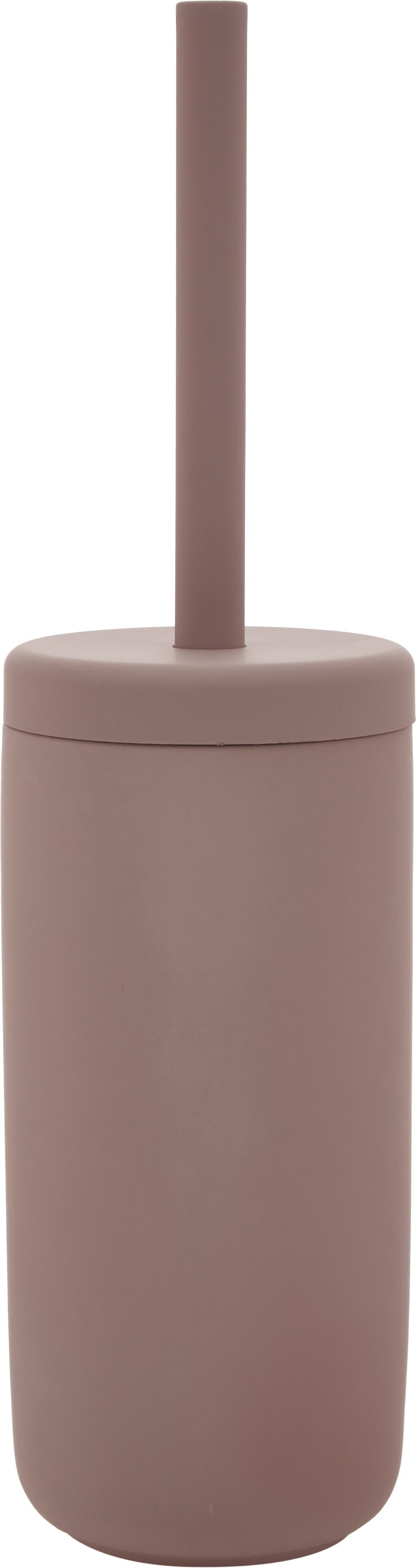 Scopino con contenitore in terracotta Omega, Contenitore: terracotta rivestita con , Manico: materiale sintetico, Rosa cipria opaco, Ø 10 x Alt. 39 cm