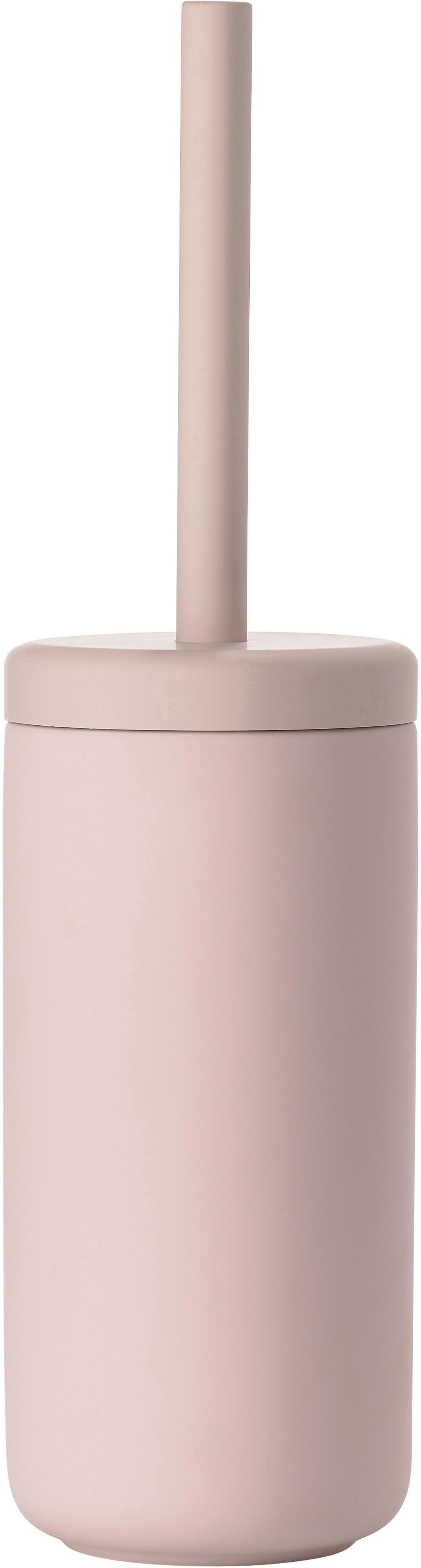 Escobilla de baño Ume, Recipiente: gres revestido con superf, Rosa palo mate, Ø 10 x Al 39 cm