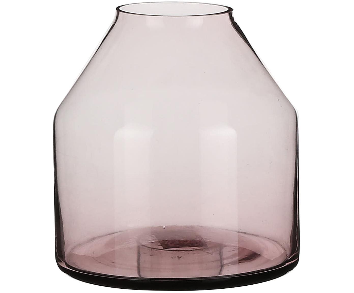 Mały wazon ze szkła Farah, Szkło, Purpurowy, transparentny, Ø 15 x W 15 cm