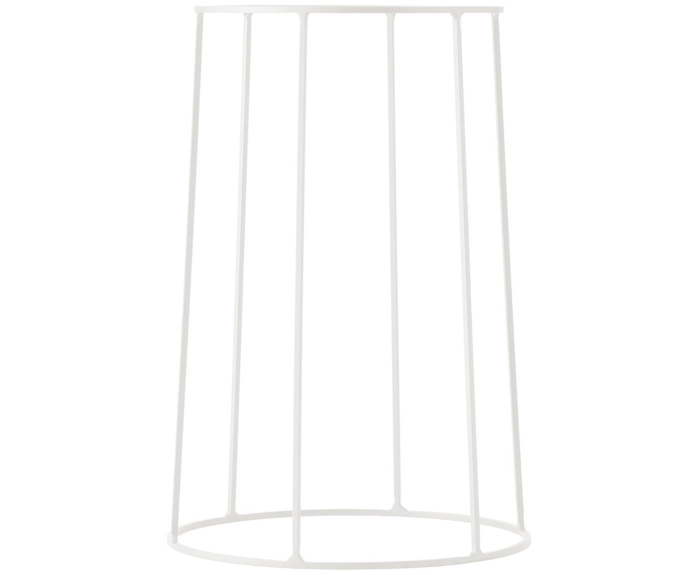 Stojak na doniczkę Wire Base, Stal malowana proszkowo, Biały, Ø 23 x 40 cm
