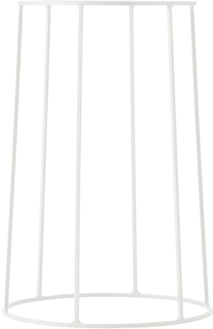 Stand per portavaso Wire Base, Acciaio, verniciato a polvere, Bianco, Ø 23 x A 40 cm