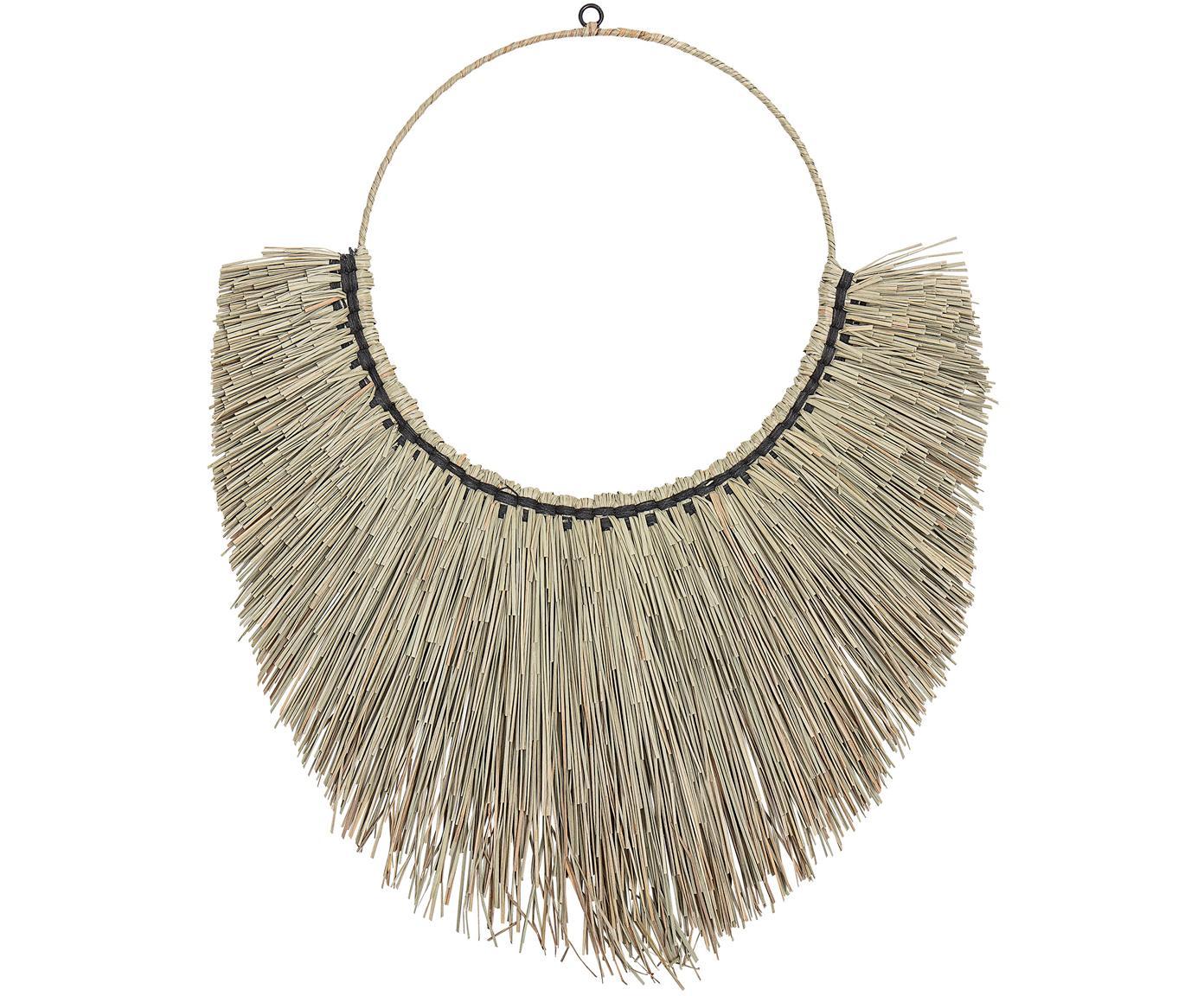 Dekoracja ścienna z trawy mendong Japonica, Jasny brązowy, S 65 x W 83 cm