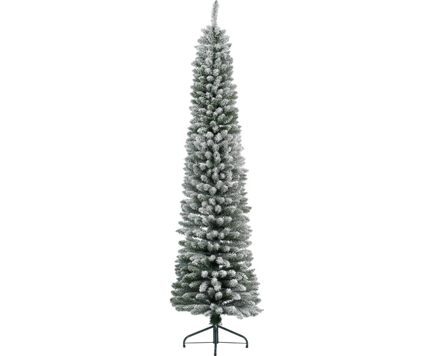 Albero di Natale artificiale Snowy Pencil, Verde, bianco, Ø 45 x Alt. 150 cm