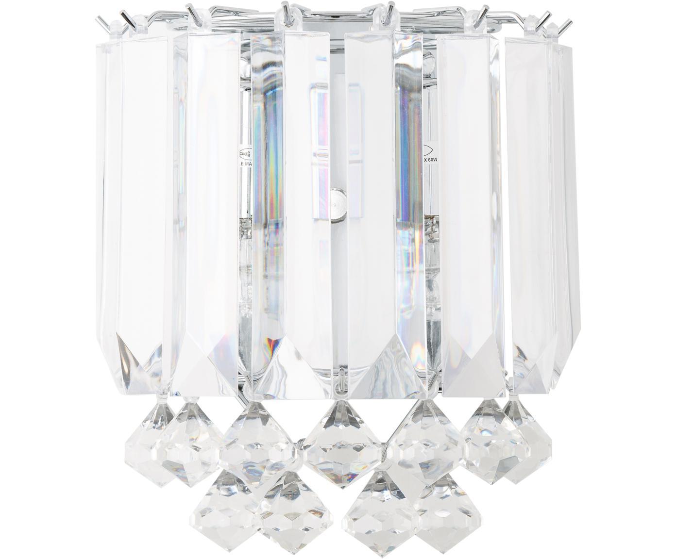 Wandlamp Modern, Metaal, kunststof, Zilverkleurig, 23 x 23 cm
