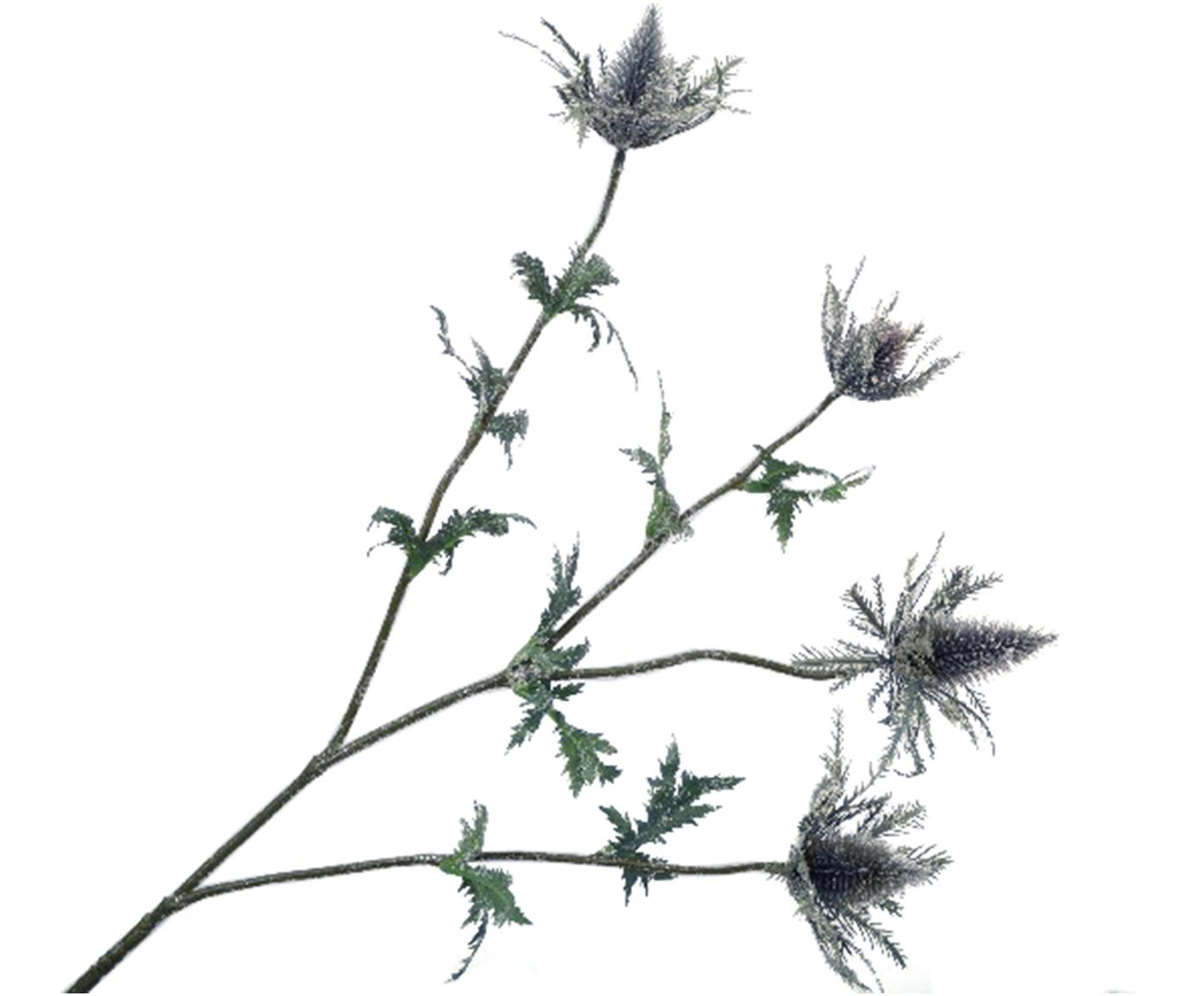 Kunstblume Distel, Kunststoff, Metall, Lila, Grau, Grün, L 77 cm