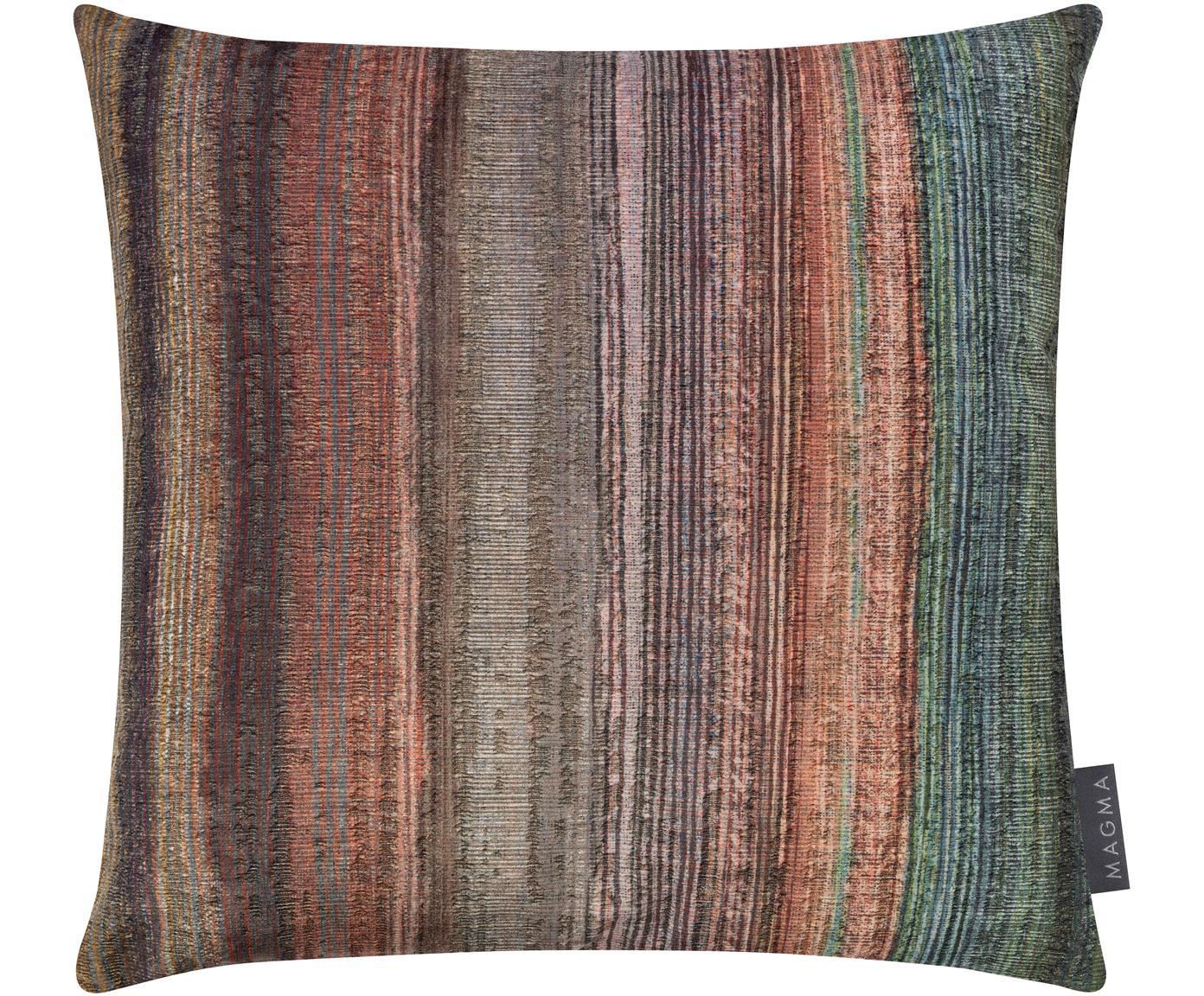 Samt-Kissenhülle Timon, Polyestersamt, Mehrfarbig, Petrolblau, 40 x 40 cm