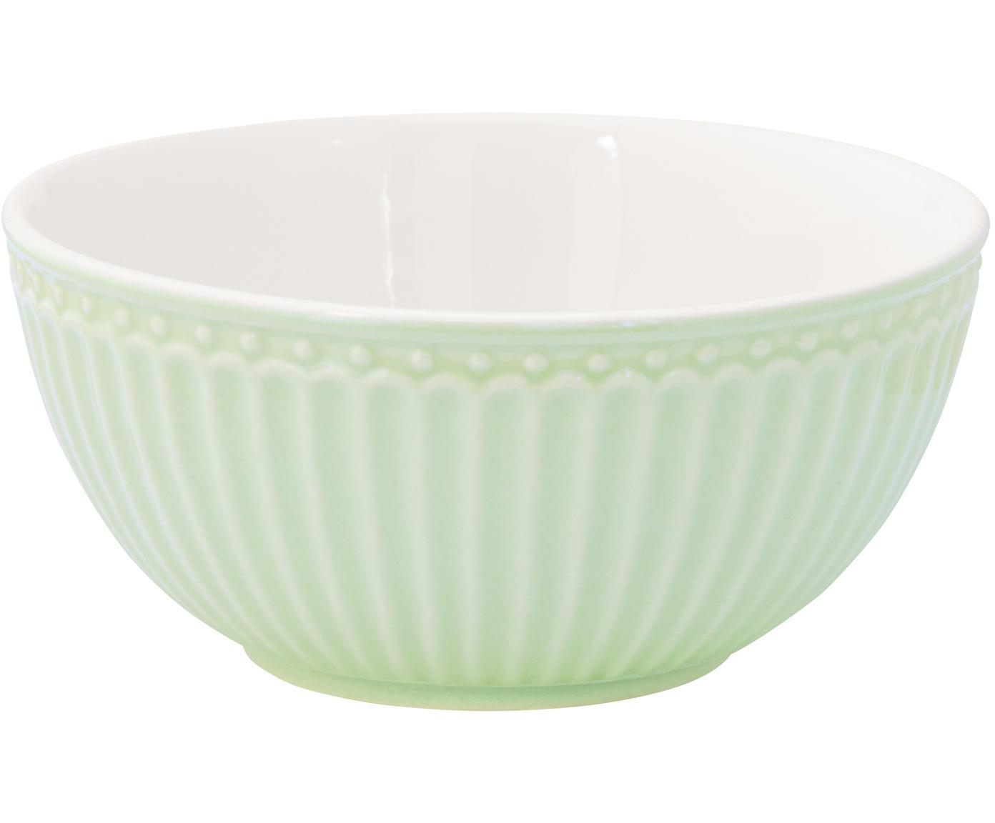 Cuencos Alice, 2uds., Porcelana, Verde menta, Ø 14 cm