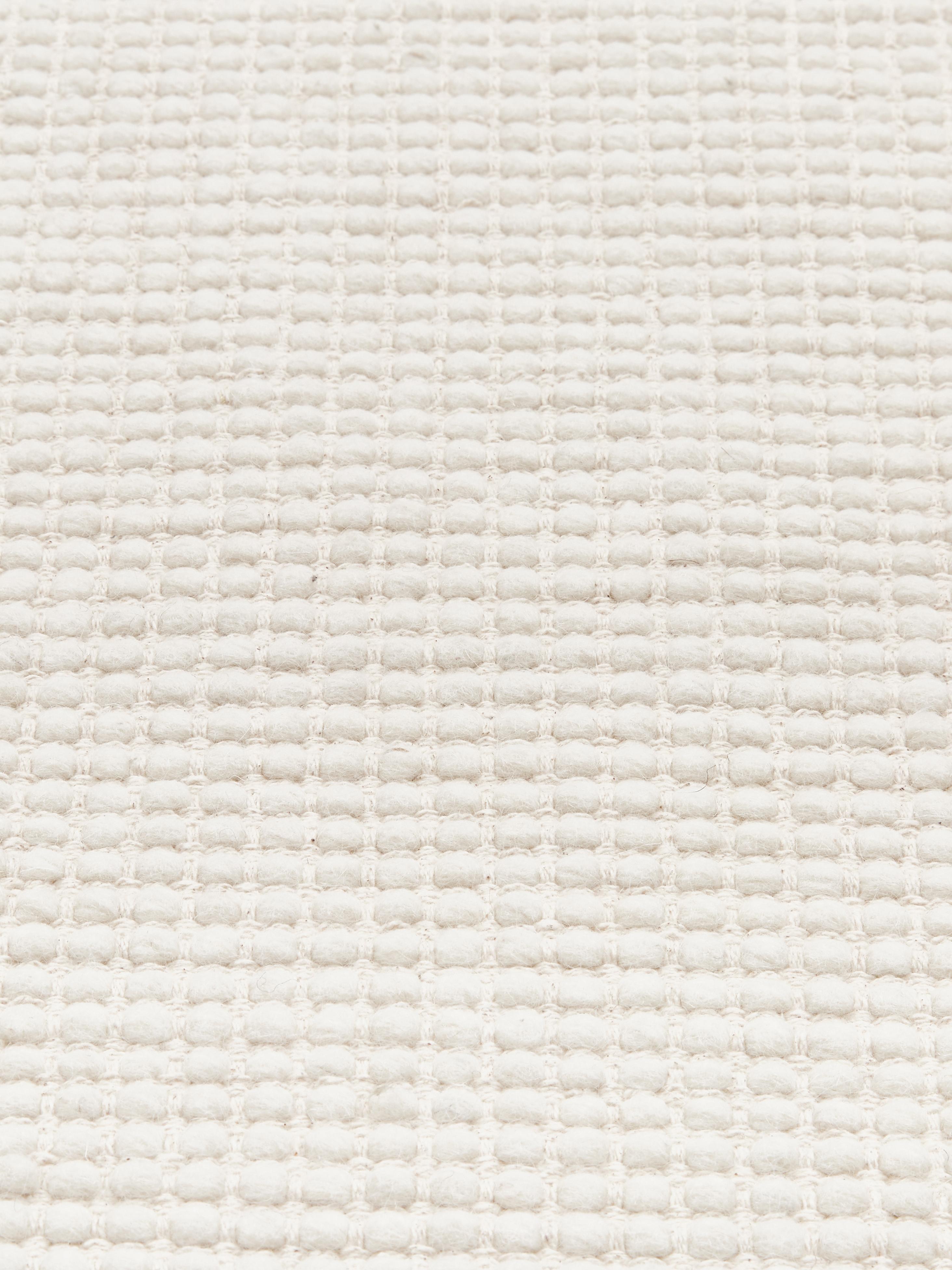 Handgeweven wollen vloerkleed Amaro in crème kleur, Crèmewit, B 160 x L 230 cm (maat M)